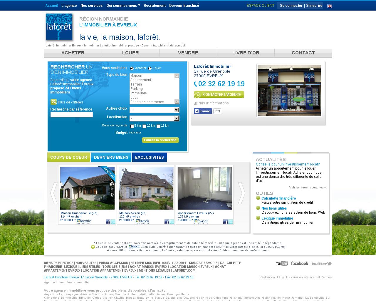 Agences immobili res sur la commune de 27 for Site location immobiliere