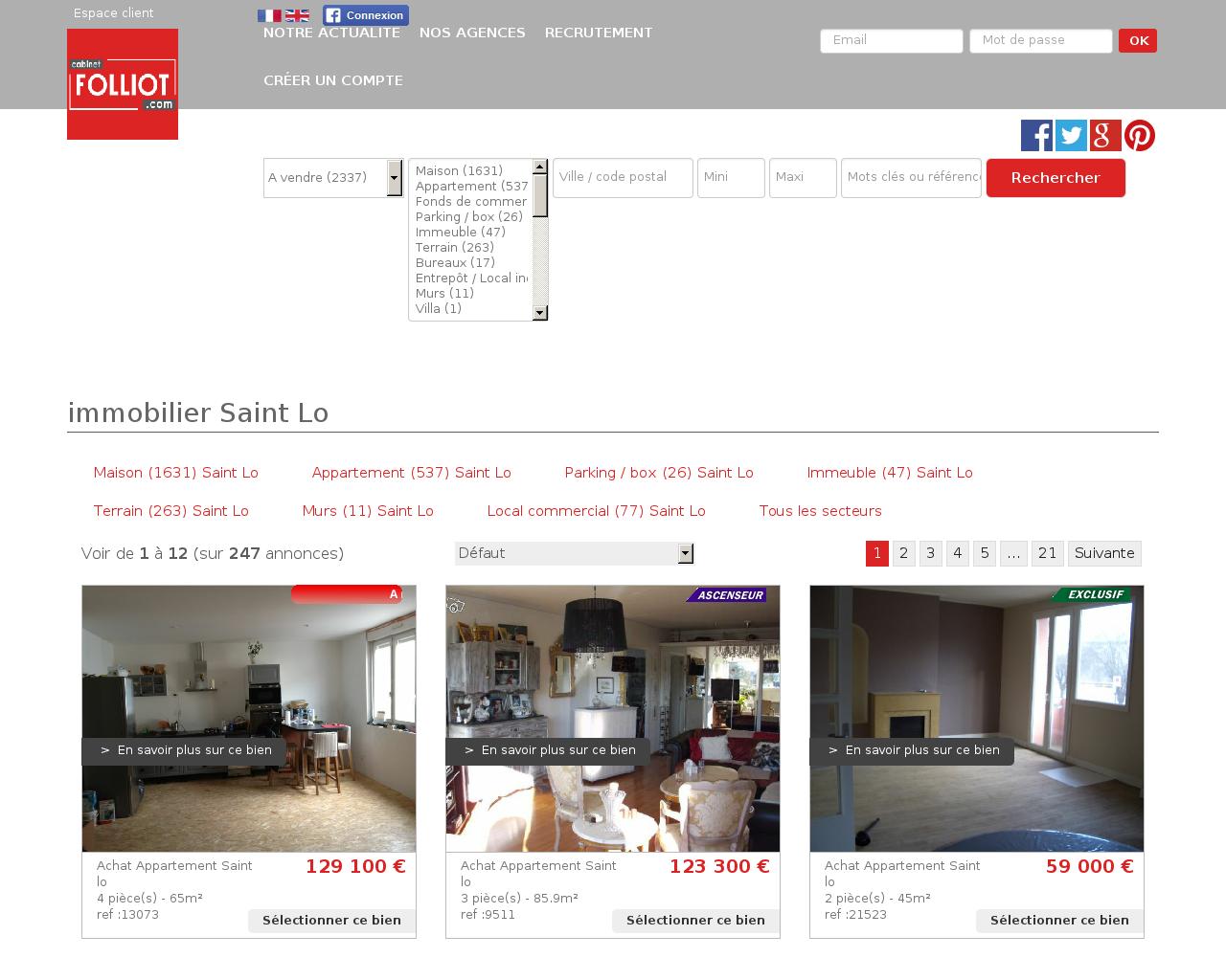 agences immobili res sur la commune de 50. Black Bedroom Furniture Sets. Home Design Ideas