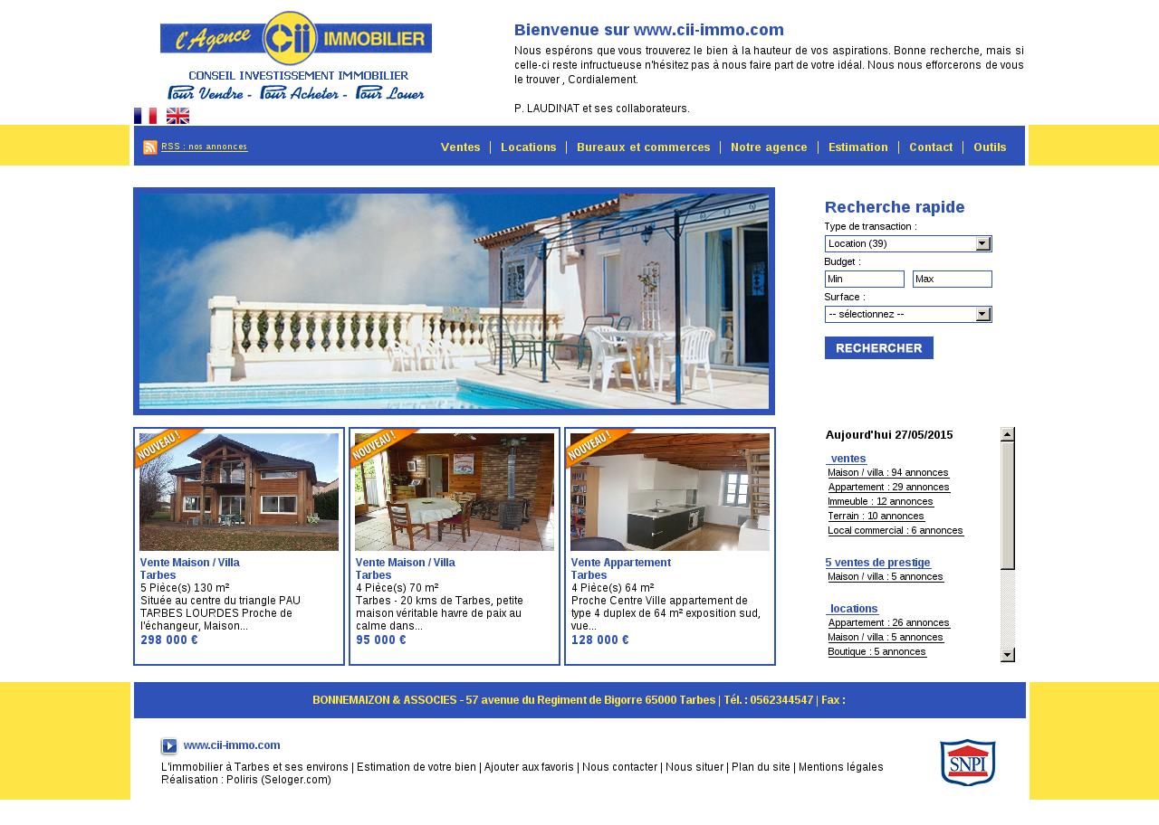 Agences immobili res sur la commune de 65 for Agence immobiliere tarbes