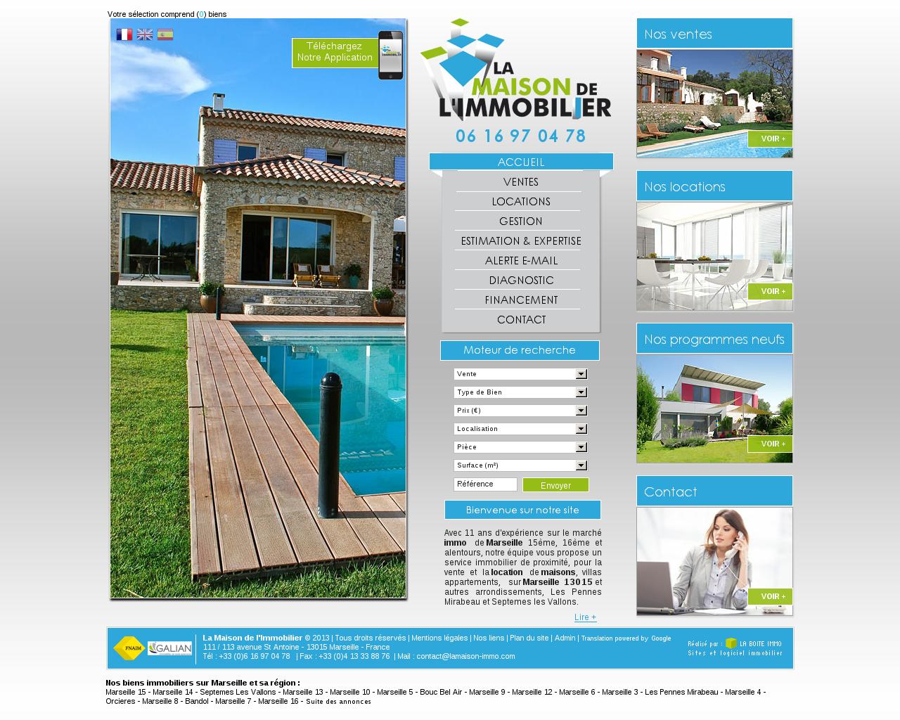 Agences immobili res sur la commune de saint antoine for Agence immobiliere 15eme