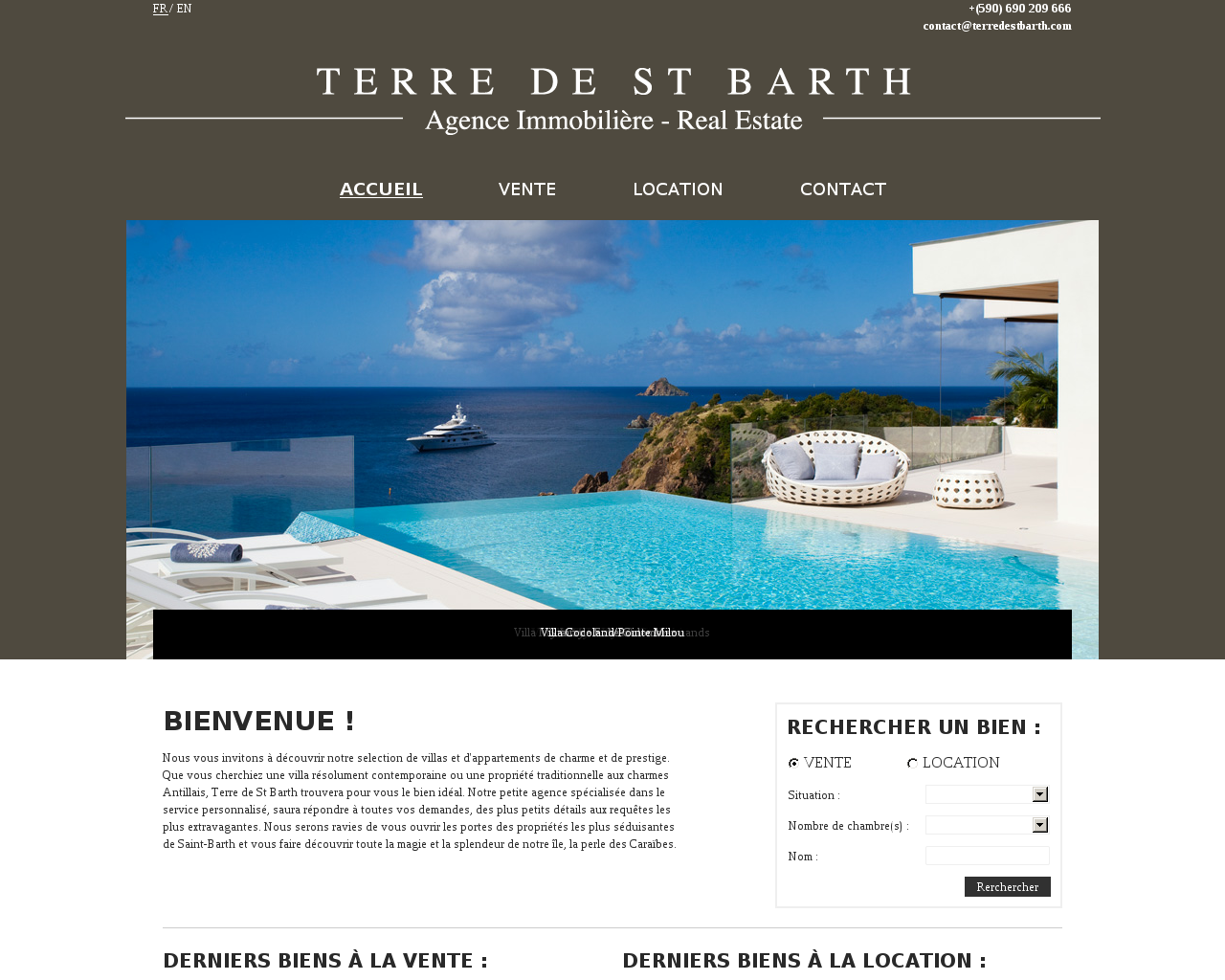 Agences immobili res sur la commune de saint barthelemy for Agence immobiliere 47