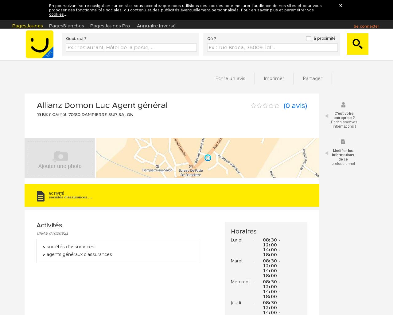 Assureurs dans la commune de dampierre for Domon achat en ligne