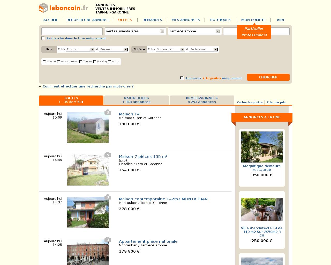 leboncoin ventes immobilieres. Black Bedroom Furniture Sets. Home Design Ideas