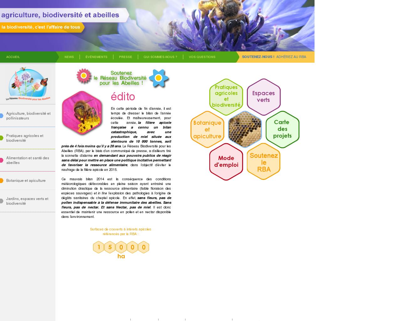 reseau biodiversite pour les abeilles. Black Bedroom Furniture Sets. Home Design Ideas