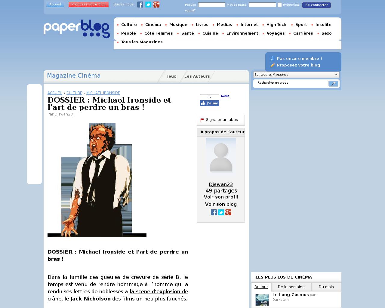 Michael Ironside est dans l annuaire des célébrités Michael.fr 6f637c55c99
