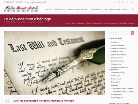 Détournement d'héritage - Droit des...