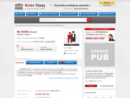 BARD Vincent - Avocat à Valence 26000 (Drôme)