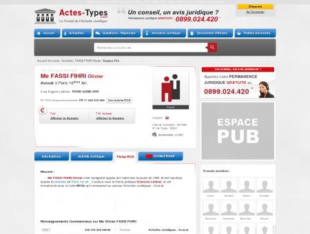 FASSI FIHRI Olivier - Avocat à PARIS 16EME...