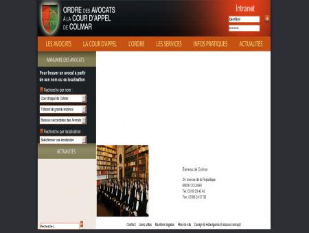 Ordre des avocats du barreau de Colmar