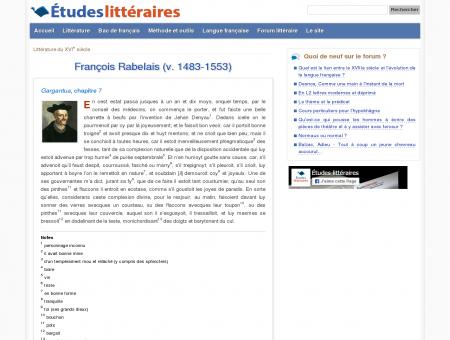François Rabelais (v. 1483-1553) - Gargantua...