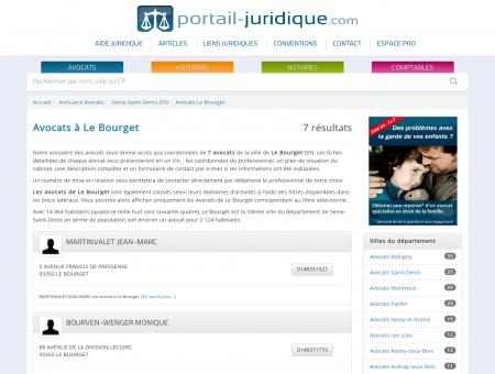 Avocat à Le Bourget (93) - Portail Juridique :...