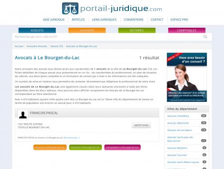 Avocat à Le Bourget-du-Lac (73) - Portail...