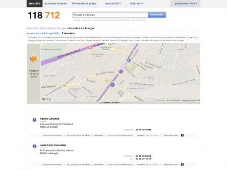 Avocats à Le Bourget (93350) - 118712 :...