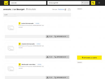 Avocats à Le Bourget - PagesJaunes : Trouvez...