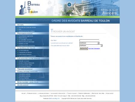 Barreau des avocats de Toulon , Ordre des...