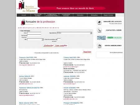 Annuaire des avocats - L'Ordre des Avocats du...