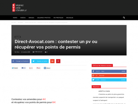 Direct-Avocat.com : contester un pv ou...
