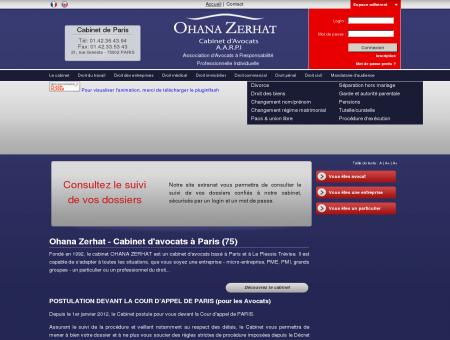 OHANA ZERHAT, cabinet d'avocats Paris, Ile de...