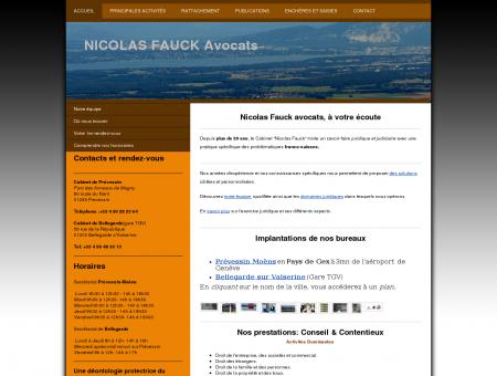 Bienvenue chez NICOLAS FAUCK AVOCATS