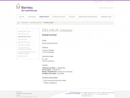 DELVAUX Jacques / Annuaire des avocats /...