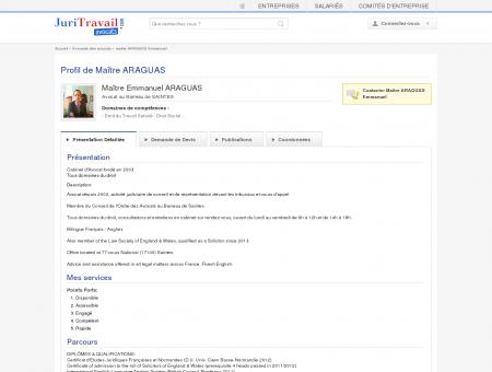 Maître ARAGUAS Emmanuel, Avocat au...