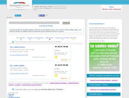 Avocats / Cabinets juridique à Le Pecq (78230)...