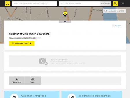 Cabinet d'Orso Le Pecq (adresse) -...