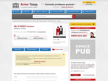Contact Email DORSO Ghislaine  Avocat à Le...