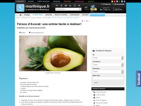 Féroce d'Avocat: une entrée facile à réaliser ...