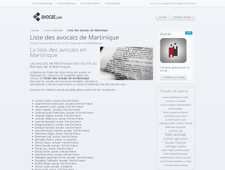 Liste des avocats de Martinique - Trouver un...
