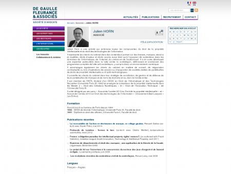 Julien HORN - De Gaulle Fleurance & Associés