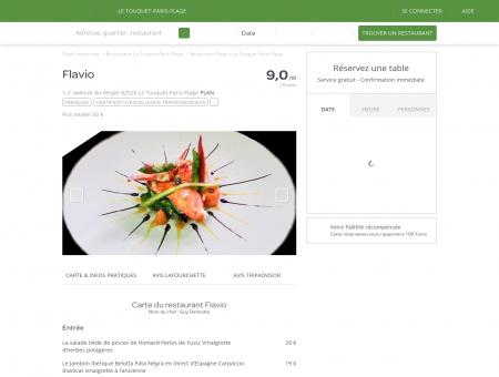 Restaurant Flavio à Le Touquet-Paris-Plage -...