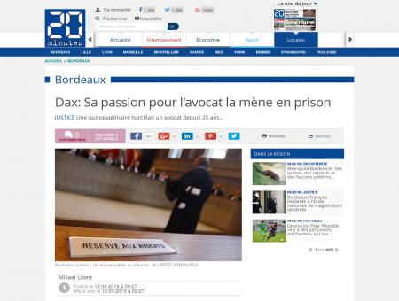 Dax: Sa passion pour l'avocat la mène en prison