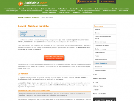 Avocat : Tutelle et curatelle | Jurifiable