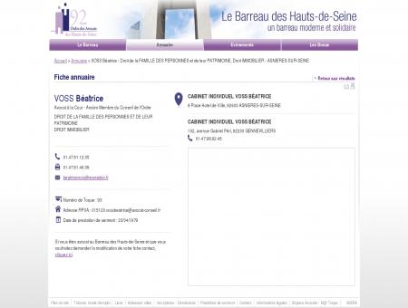 VOSS BéATRICE - Avocat Droit de la FAMILLE...