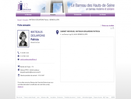 WATIEAUX-DESJARDINS PATRICIA - Avocat -...
