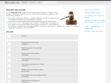 Annuaire des avocats