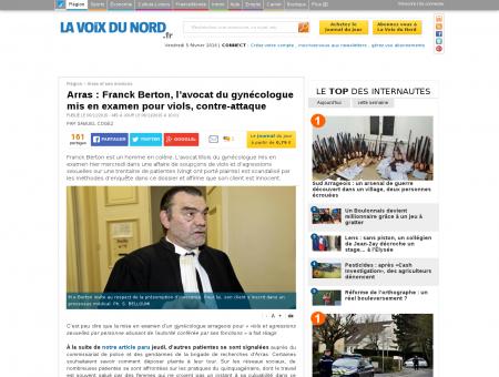Arras : Franck Berton, l'avocat du gynécologue...