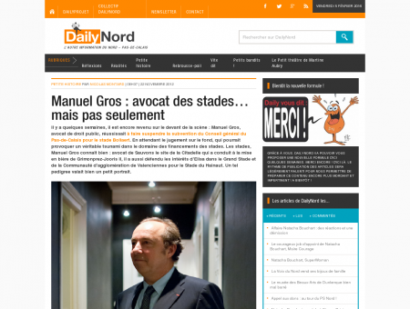 Manuel Gros : avocat des stades mais pas...