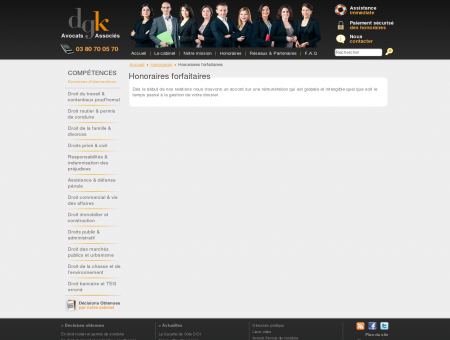 Honoraires forfaitaires - Honoraires - Avocat...