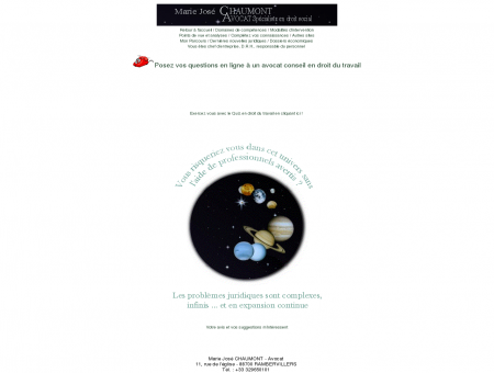 Marie José CHAUMONT, Avocat spécialiste en...