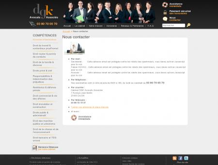 Nous contacter - Avocat Dijon Avocats Auxerre...