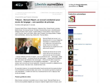 Tribune : Bernard Ripert, un avocat condamné...