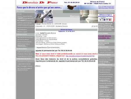 Avocats - 21 - COTE D'OR - Domaine Divorce