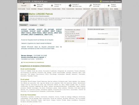 Patrick LINGIBE (avocat, Guyane française,...