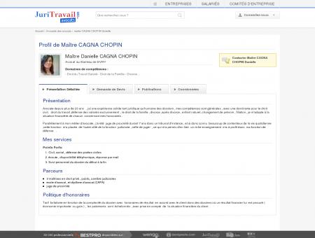 Maître CAGNA CHOPIN Danielle, Avocat au...