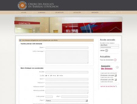 Contacts - Ordre des avocats du barreau...