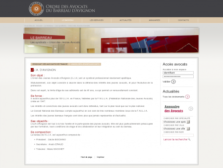 Union des Jeunes Avocats - Les syndicats - Le...