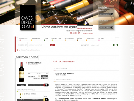 Château Ferran au meilleur prix sur CAVES...