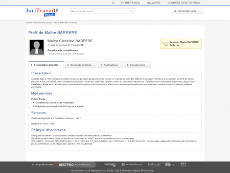 Maître BARRERE Catherine, Avocat au Barreau...